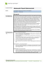 Modul Lehrplan BS_Mathematik Physik ... - Swissmechanic