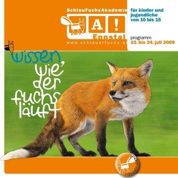 """Folder """"SchlauFuchsAkademie"""" Ennstal 2008 - KinderuniSteyr"""