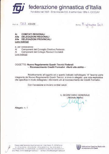 fed erazione ginnastica d' ltalia - Federazione Ginnastica d'Italia