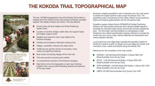 THE KOKODA TRAIL TOPOGRAPHICAL MAP