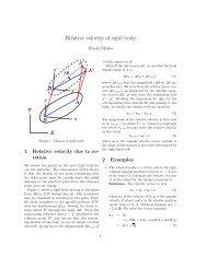 2. Relative velocity of rigid body