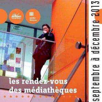 programme trimestriel - Site des médiathèques d'Antony