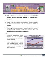 At the national level, the average dealers' prices of four (4) fertilizer ...
