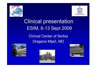 Clinical presentation - ESIM 2009