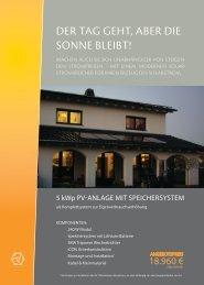 Der Tag gehT, aber Die Sonne bleibT! - SRU Solar AG