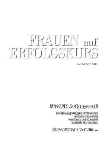 FRAUEN Aufgepasst! - Kiesels.Info