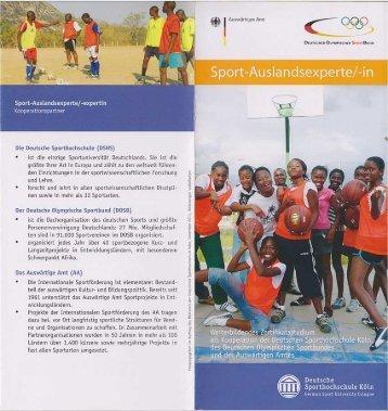 Der Info-Flyer zum Studienmodul Sport-Auslandsexperte/in