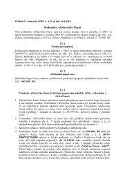 Podmínky k výběrovému řízení - Praha 3