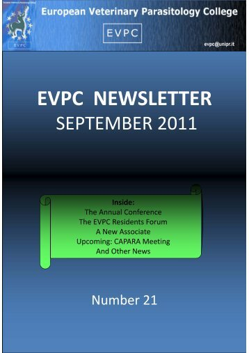 September 2011 - European Veterinary Parasitology College