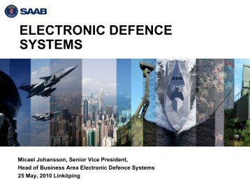 Presentation of Saab's business area Electronic Defence Systems