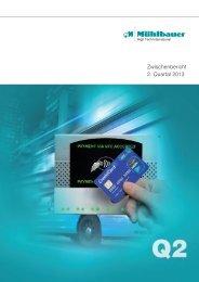 Download Halbjahresfinanzbericht 2013 - Mühlbauer AG