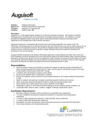 Job Description - Software Developer (external) - Augusoft