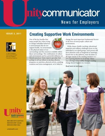 Issue 2, 2011 - Unity Health Insurance