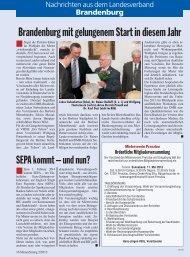Brandenburg mit gelungenem Start in diesem Jahr - Deutscher ...