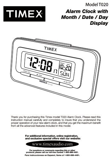 model t307 preset tuning clock radio with mp3 line timex audio rh yumpu com Timex Ironman Triathlon Manual Timex Watch Instruction Manual