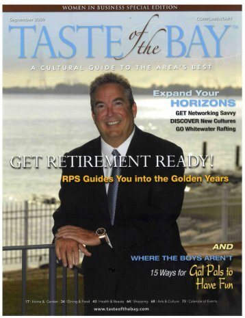 Taste of the Bay Cover Story - Retirement Planning Services ...