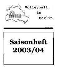 Saisonheft 2003/04 (Info 07+08/03) - Volleyball-Verband Berlin