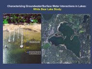 Presentation to White Bear Lake Conservation District - Minnesota