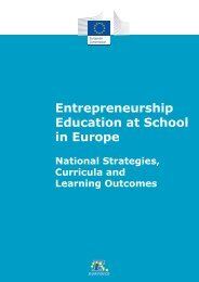 Entrepreneurship Education at School in Europe National ... - Eurydice