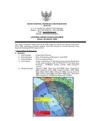 Laporan Harian 6 Oktober 2009 - BNPB