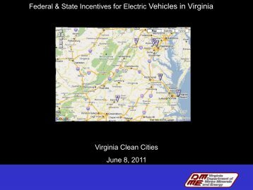 Federal & State Incentives for Electric Vehicles in Virginia Virginia ...