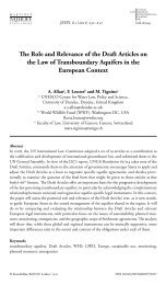 The Role and Relevance of the Draft Articles on the Law of ... - WWF