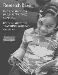 Units of Study for Teaching Writing - Heinemann