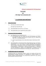 Satzung NEU_FINAL 20100609 - HTI - High Tech Industries AG