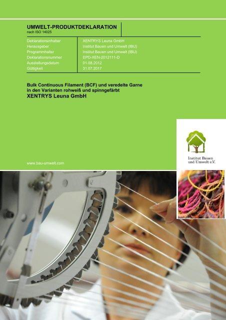 EPD-XEN-2012111-D - Institut Bauen und Umwelt