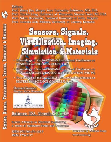 sensors, signals, visualization, imaging, simulation and ... - Wseas.us