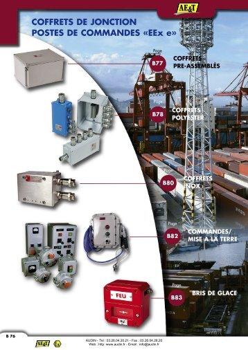 Coffrets de jonctions et postes de commandes EEx e - Audin