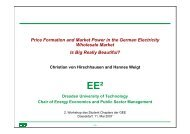 Price Formation and Market Power in the German Electricity ... - GEE