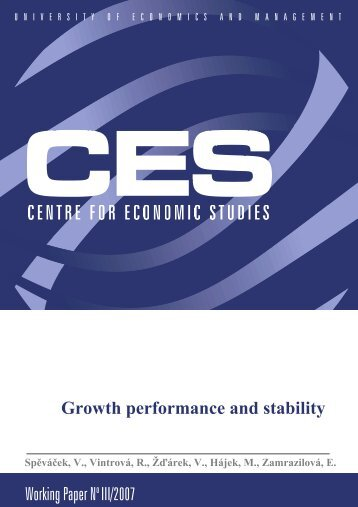 Working Paper No III/2007 Growth performance and stability - VÅEM