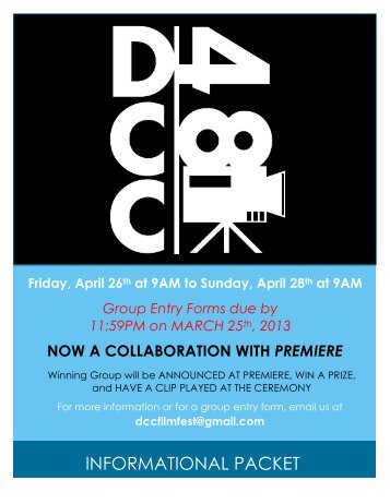 INFORMATIONAL PACKET - Digital Cinema Collaborative