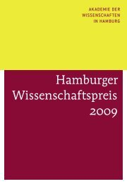 Hamburger Wissenschaftspreis 2009 - Akademie der ...