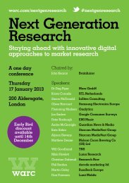 Next Generation Research - Warc