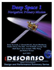 Article 8 Deep Space 1 Navigation: Primary Mission - DESCANSO ...