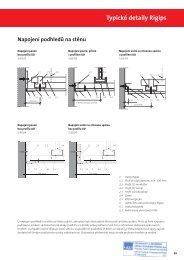Typické detaily Rigips Napojení podhledů na stěnu