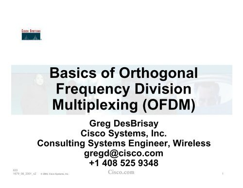 Basics of Orthogonal Frequency Division Multiplexing (OFDM)