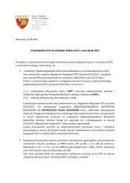 STANOWISKO PZTS W SPRAWIE PISMA ZPZTS z dnia 08.06.2013