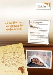 Gesundheits- versorgung für Kinder in Mali - World Vision