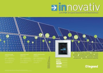 Innovativ April 2011pdf, 6.4 MB - Legrand - Legrand Austria GmbH