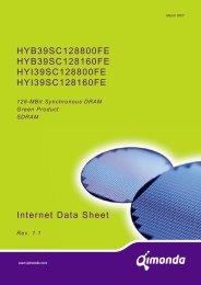 Internet Data Sheet HY[B/I]39SC128[800/160]FE Rev. 1.1 - UBiio