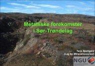 Metalliske forekomster i Sør-Trøndelag