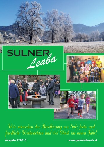 Gemeindezeitung 2/13 - Gemeinde Sulz