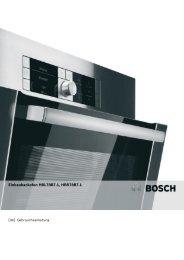 Bedienungsanleitung zu BOSCH HBR 78 B 751 Edelstahl ... - Innova