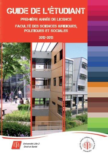 Guide de l'étudiant - Université Lille 2 Droit et Santé