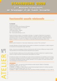 Fiches ateliers 3 avril - Assises Sexologie 2014