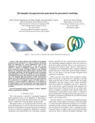 Rectangular hexagonal mesh generation for parametric modeling