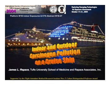 Indoor and outdoor carcinogen pollution on a cruiseship - Repace ...